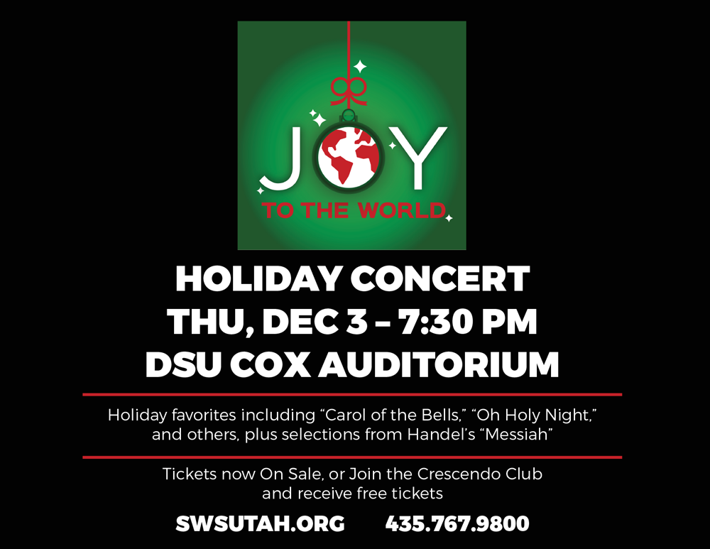 Holiday concert playbill ad